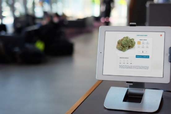 place kiosks with an interactive menu throughout your dispensary for a speedy fulfillment option