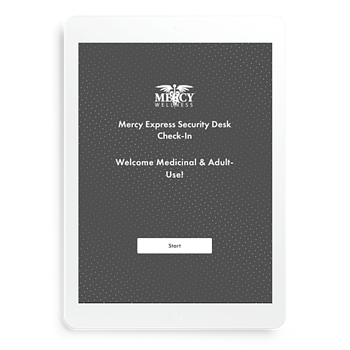 The Mercy Wellness Checkin stations enable customers to sign up for their online ordering program powered by Baker, called Mercy Express