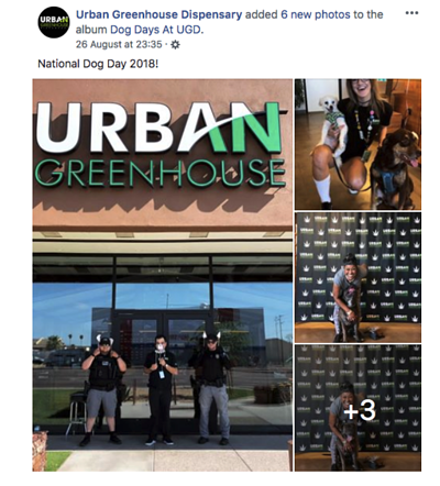 Dispensary event idea for college students from Facebook